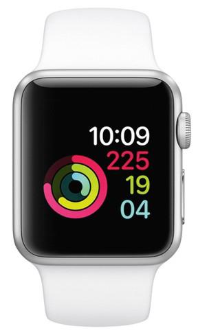 Apple Watch 38mm Silver Aluminium Case White
