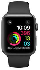 Apple Watch 42mm Space Grey Aluminium Case Black
