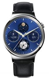 Huawei Watch W1 Stainless Steel/Black Leather